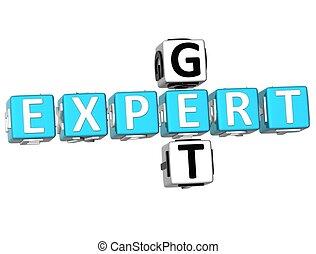 Get Expert Crossword - 3D Get Expert Crossword on white...