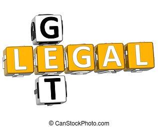 3D Get Legal Crossword