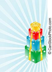 3d gift box set in blue starburst