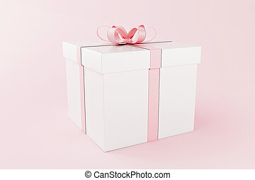 3d Gift boxes, Valentine's day concept.