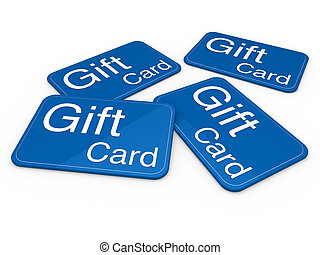 3d gift card blue celebration greeting sale