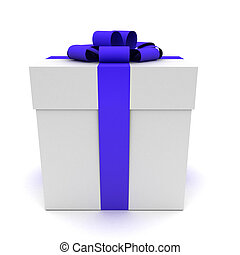 3d gift isolated on white.