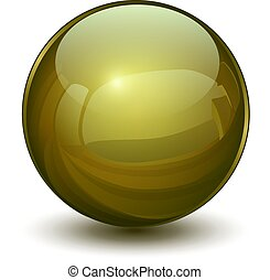 3d, glas, kugelförmig
