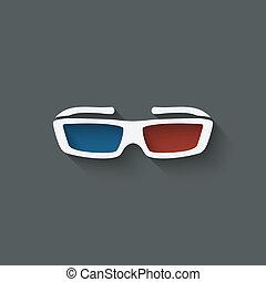 3d glasses design element