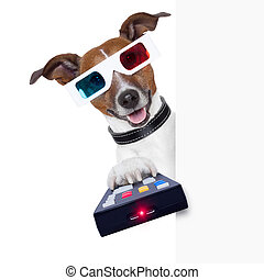 3d glasses movie dog with remote control