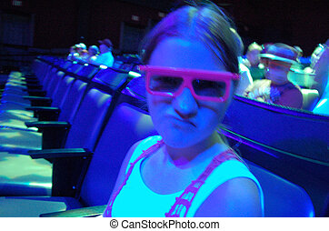 3D Glasses On In 3D Theatre