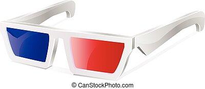 3D glasses vector icon