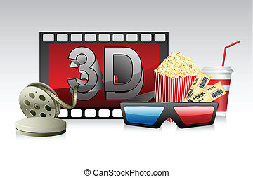 3d Glasses with Film Stripe