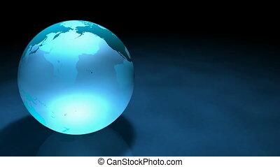 3d Glassy Earth Animation AlphaMask