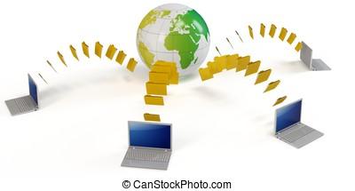 3d global file transfer concept