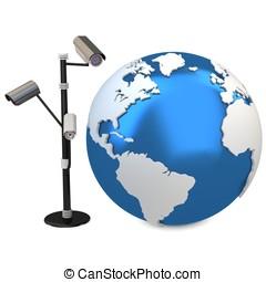 3d global video surveillance cameras