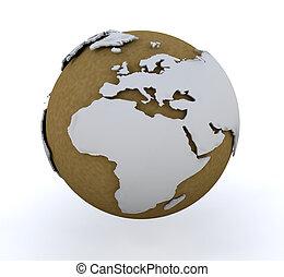 3D globe - 3D render of a globe
