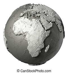 3D Globe Africa