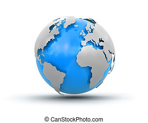 3d Globe (clipping path included) - 3d Globe. Image with ...