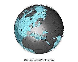 3d globe Europe