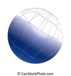 3d globe framework on a white background, vector, see more...