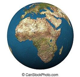 3d globe in isolation