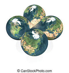 3D globe isolated on a white
