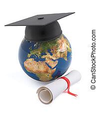 3d Globe of the Earth graduates