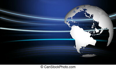 3d Globe Rotating in High Definition Format