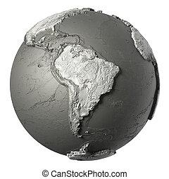 3D Globe South America