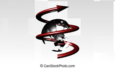 3d Globe spinning