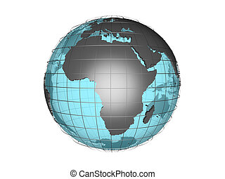 3D globe with Africa