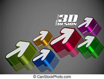 3d glossy arrow