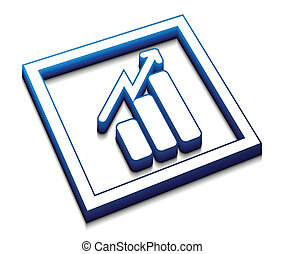 business graph vector icon