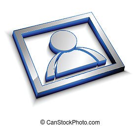 3d glossy user icon