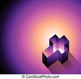 3D Glowing Christian Cross Background Illustration