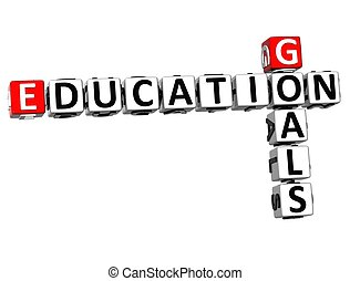 3D Goals Education Crossword