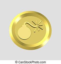 gold bomb icon
