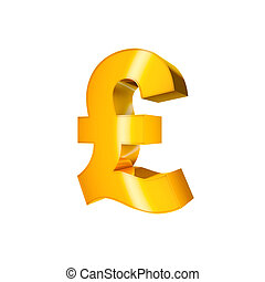 Pound Sign - 3D Gold Character Collection. Pound Sign ...