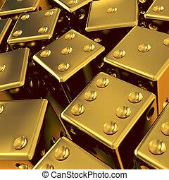 3d Gold dice