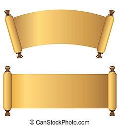 3d Gold Scroll Set