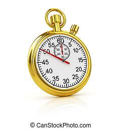3d Gold stopwatch