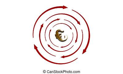 3d Gold target Euro