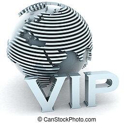 3d gold VIP globe europe