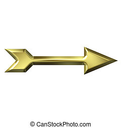 3D Golden Arrow