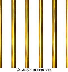 3D Golden Bars - 3d golden bars isolated in white