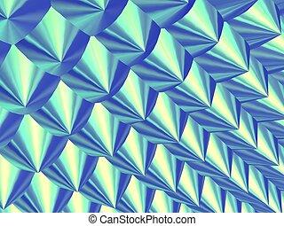 3D-Golden blue thorn