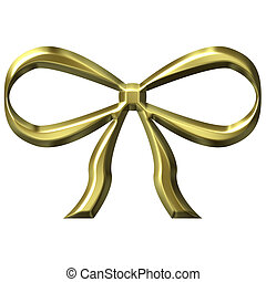 3D Golden Bow