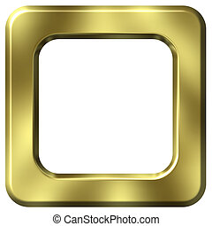 3D Golden Frame