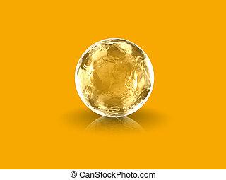 3d golden globe