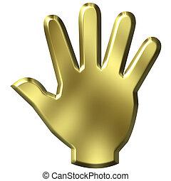 3D Golden Hand