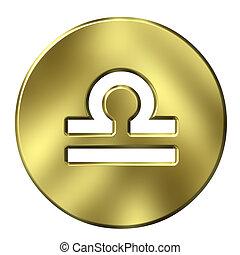 3D Golden Libra