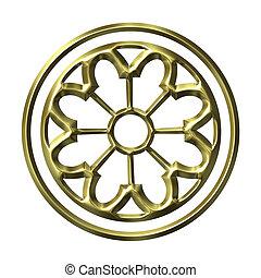 3D Golden Ornament