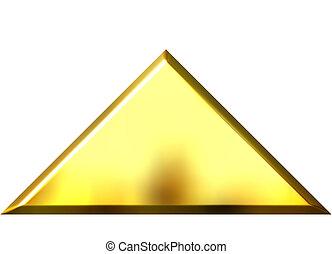 3D Golden Pyramid