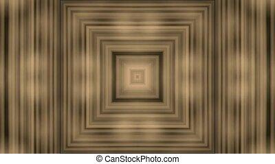 3d golden rectangle tunnel, door
